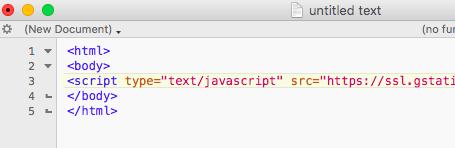 Google Trends Java Script Code Schnipsel in HTML einbetten