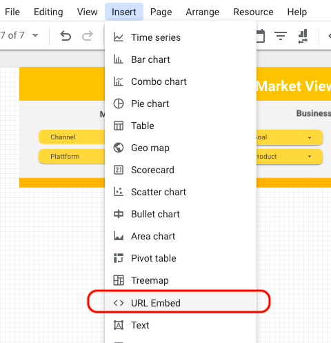 Google Trends per HTML Einbettung in Data Studio einbinden